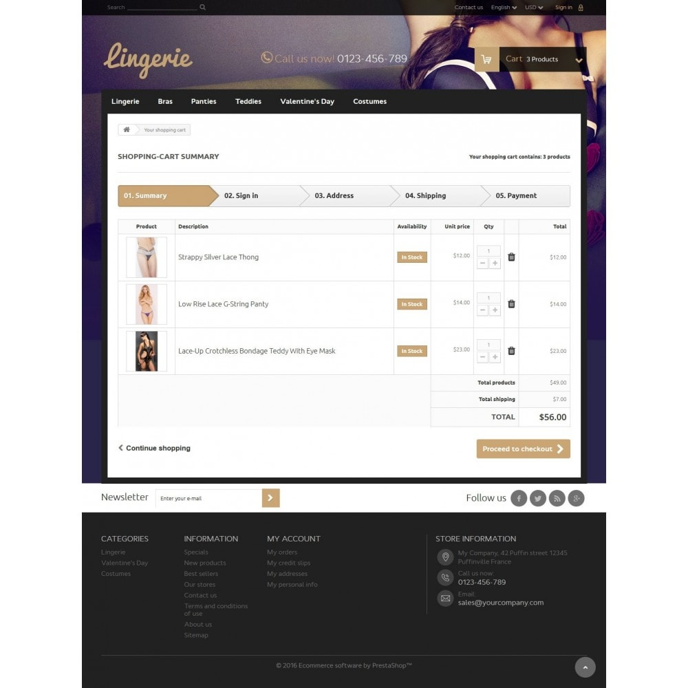 theme - Lingerie & Adulti - Lingerie Store 1.6 Responsive - 8