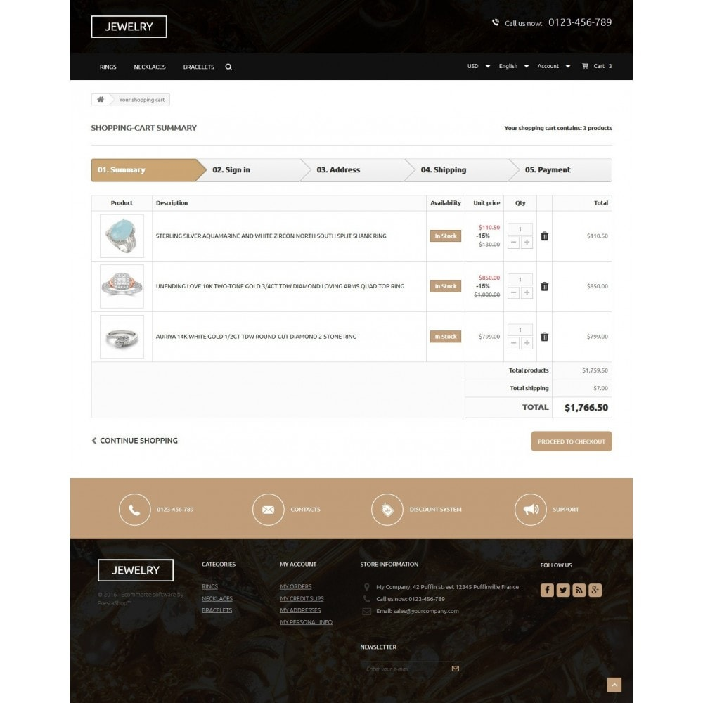 theme - Jewelry & Accessories - Jewelry Store 1.6 Responsive - 9