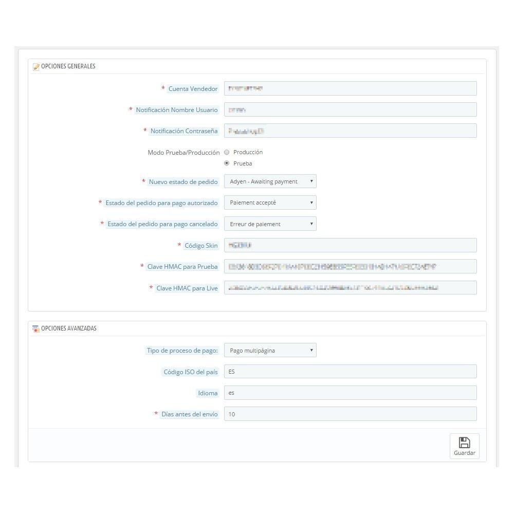 module - Pago con Tarjeta o Carteras digitales - Pago Adyen - 2