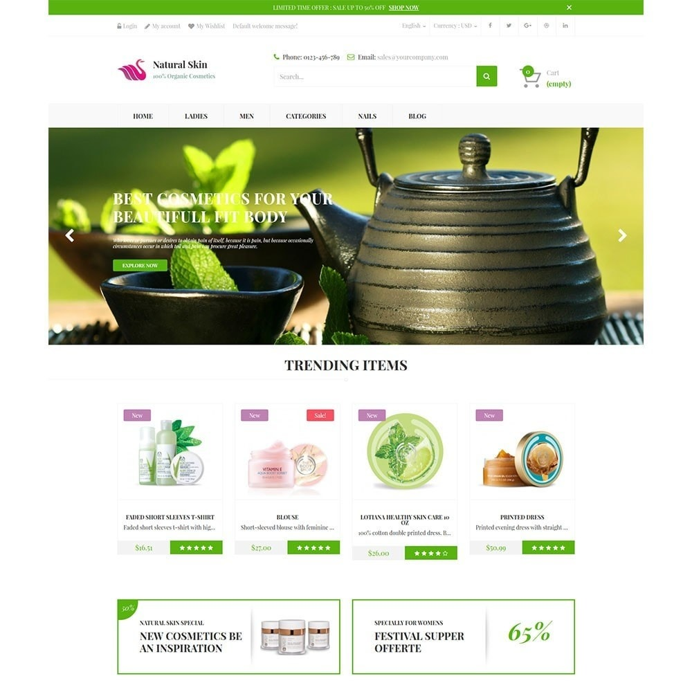 theme - Health & Beauty - Natural Skin Bio Responsive - 5