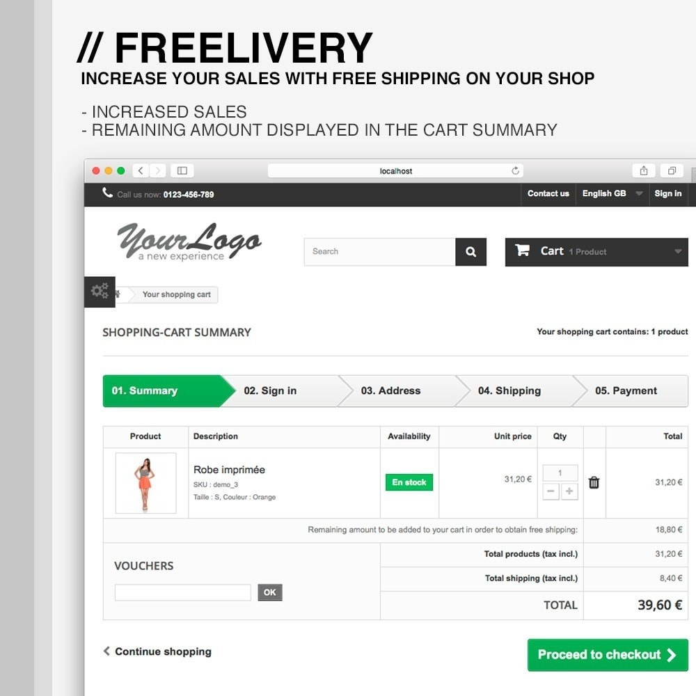 module - Shipping Costs - Freelivery : Free delivery - 3