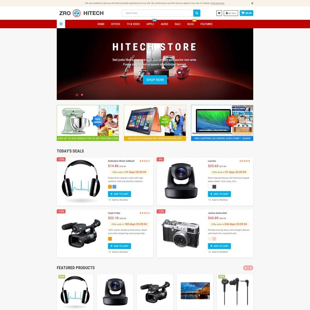 theme - Elektronik & High Tech - Zro23 - Hitech - Electronics Online Store - 2