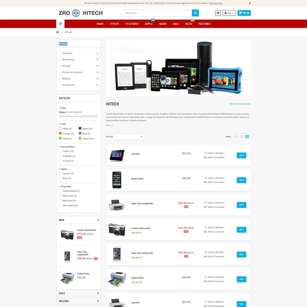 theme - Electronique & High Tech - Zro23 - Hitech - Electronics Online Store - 5