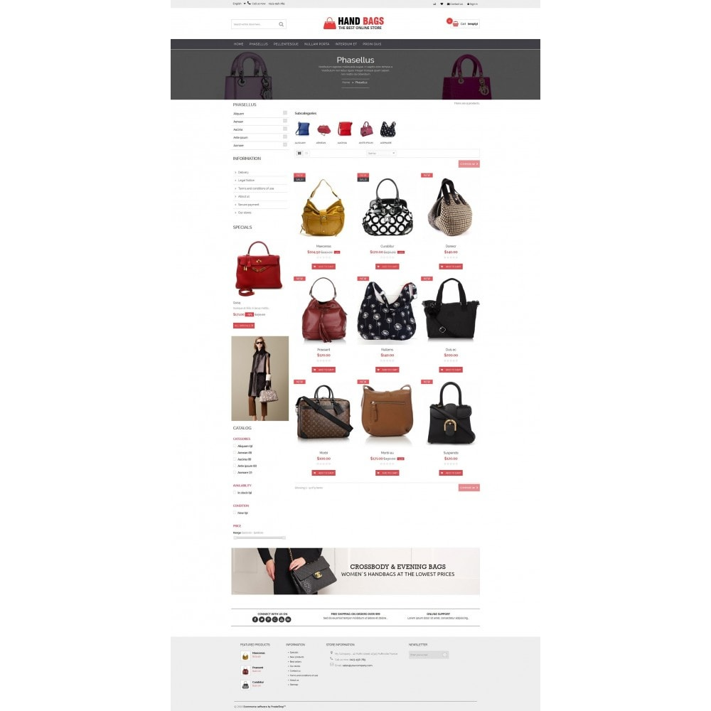 theme - Sieraden & Accessoires - Hand Bags Multipurpose HTML5 - 6