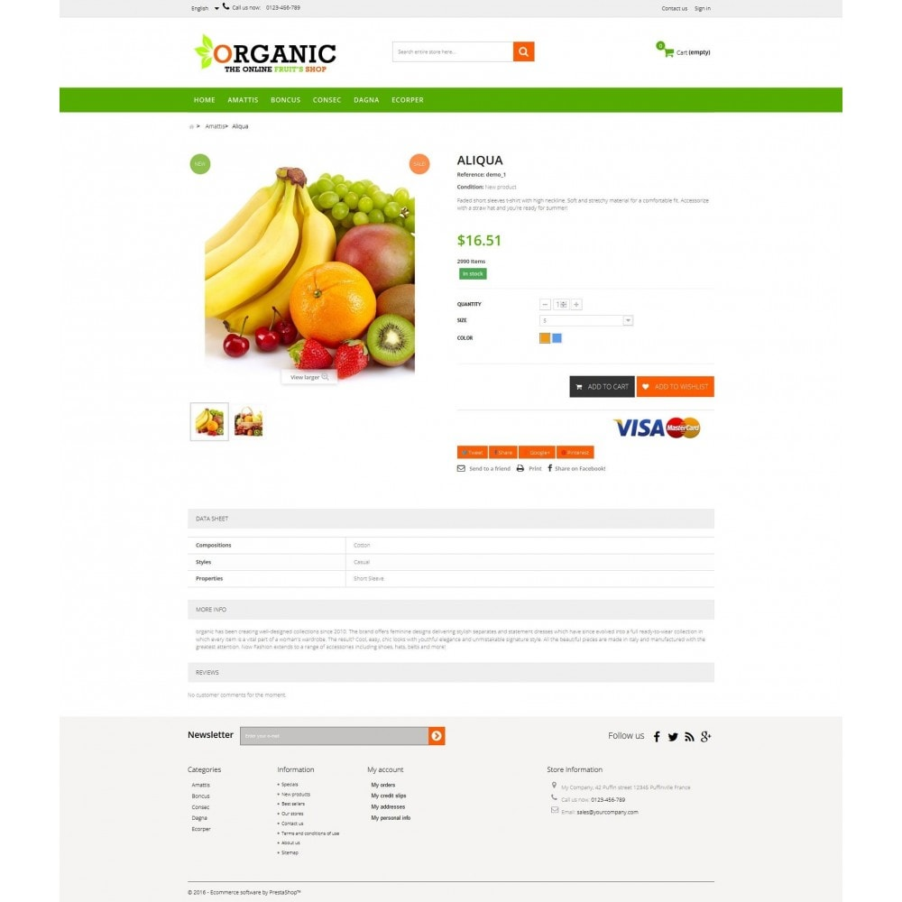 theme - Food & Restaurant - Organic Multishop  HTML5 - 4