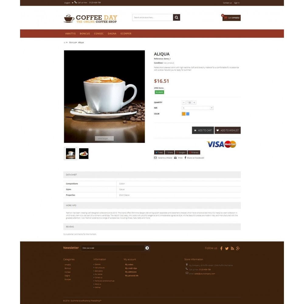 theme - Boissons & Tabac - Coffee & Cake Multipurpose HTML5 - 4