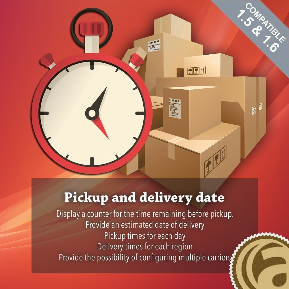 module - Data de entrega - Pickup and delivery date - 1