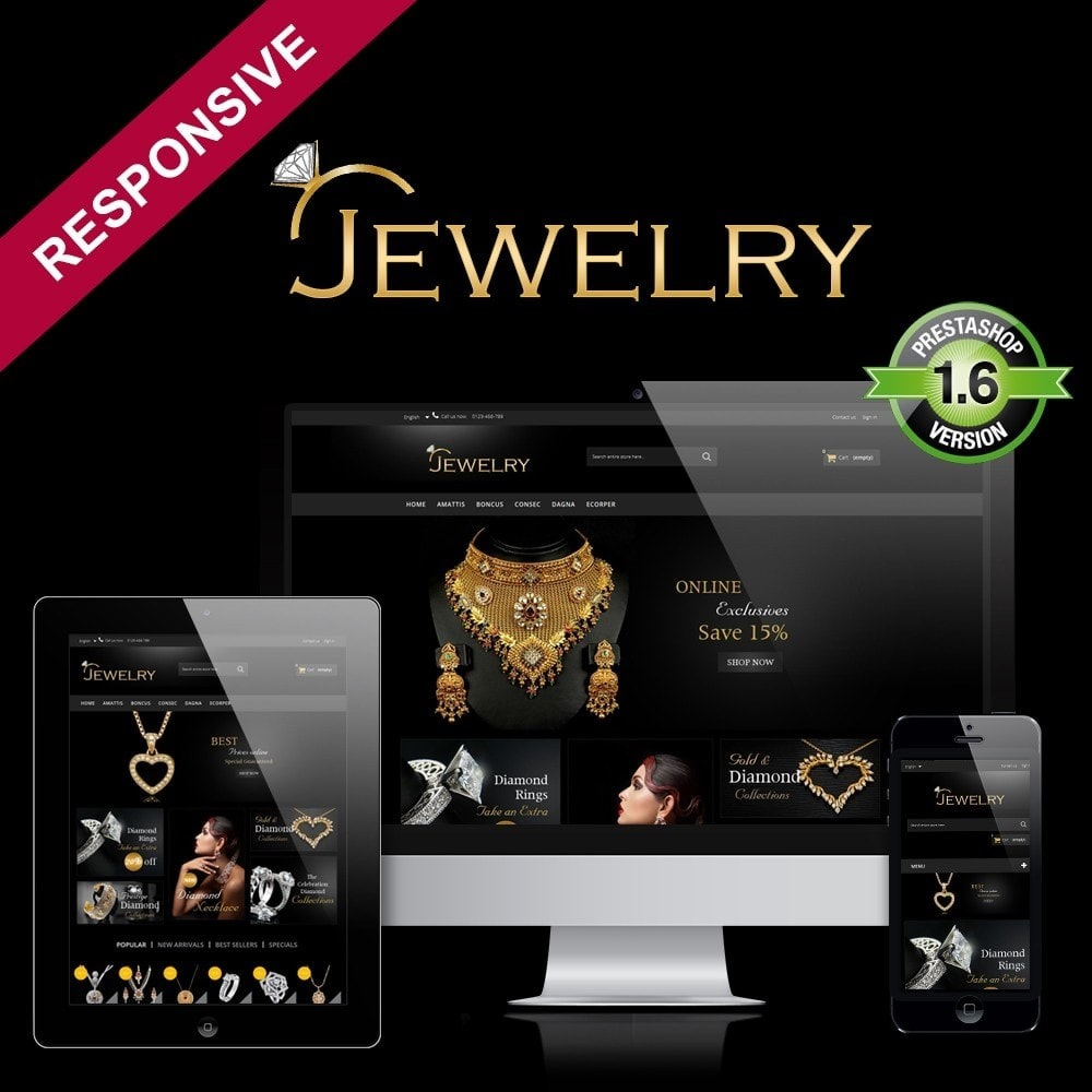 theme - Schmuck & Accesoires - Jewelry Multipurpose HTML5 - 1