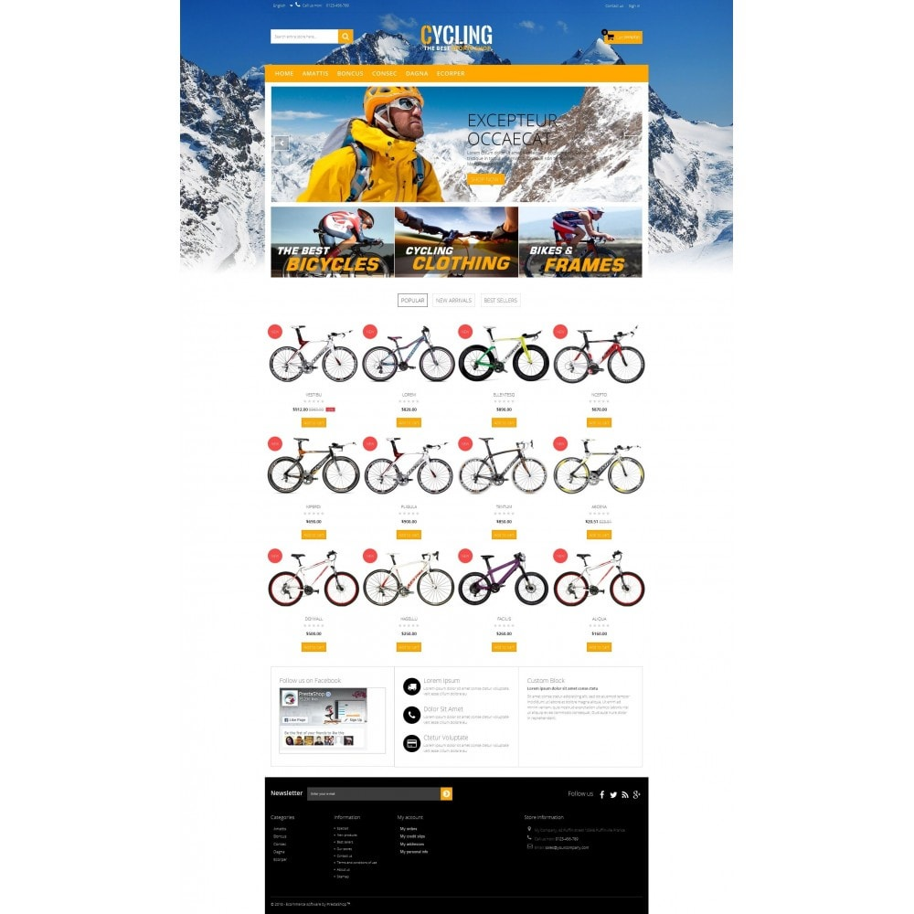 theme - Sports, Activities & Travel - Cycle Multishop HTML5 - 8