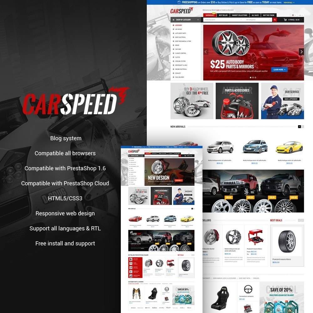 theme - Auto's & Motoren - Water Car Store - 1