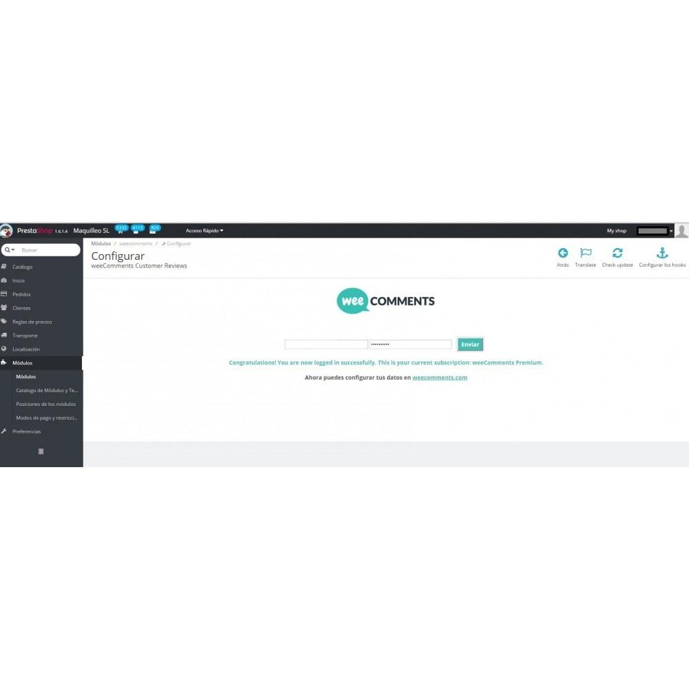 module - Comentarios de clientes - weeComments Opiniones de Clientes, Product Reviews - 10
