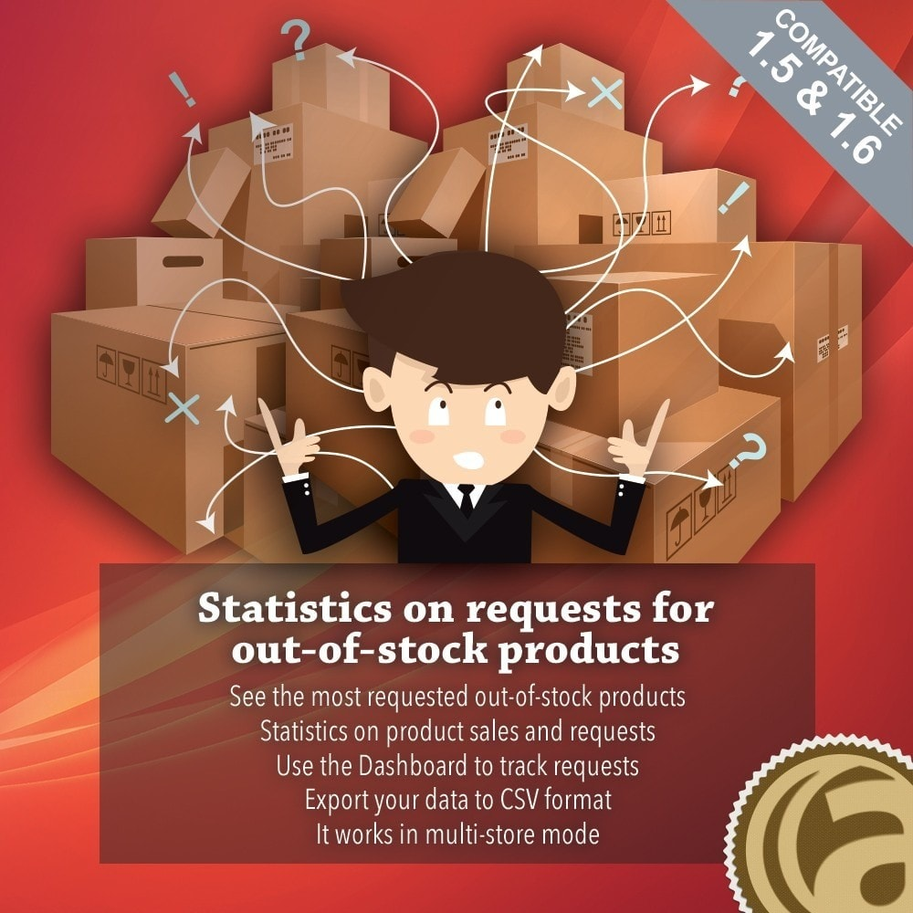 module - Zarządzanie zapasami &  Dostawcy - Statistics on requests for out-of-stock products - 1
