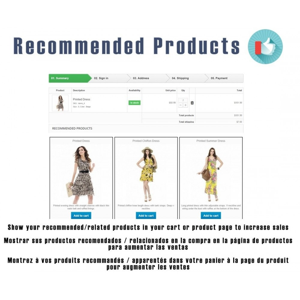 module - Ventes croisées & Packs de produits - Recommended products / Related products by ID - 1