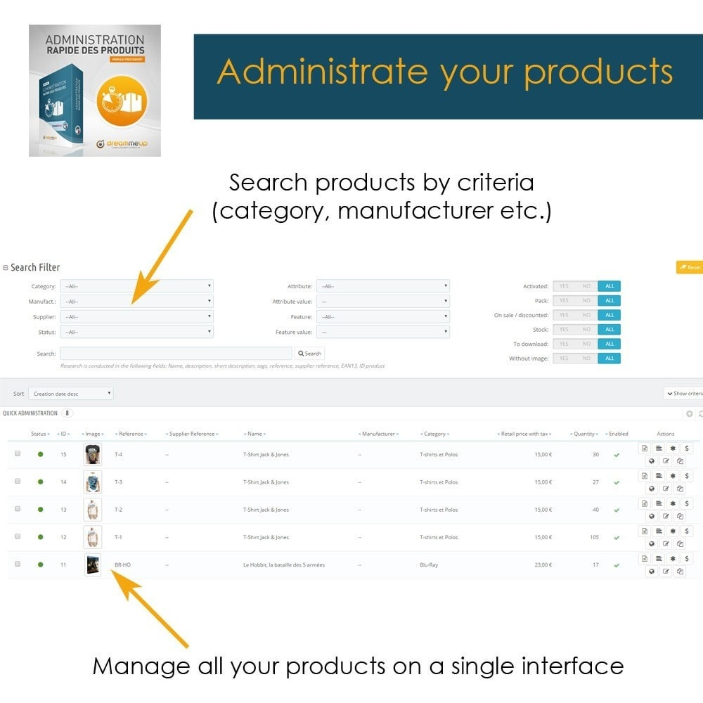 module - Snelle & seriematige bewerking - DMU Quick Admin of your product database - 1