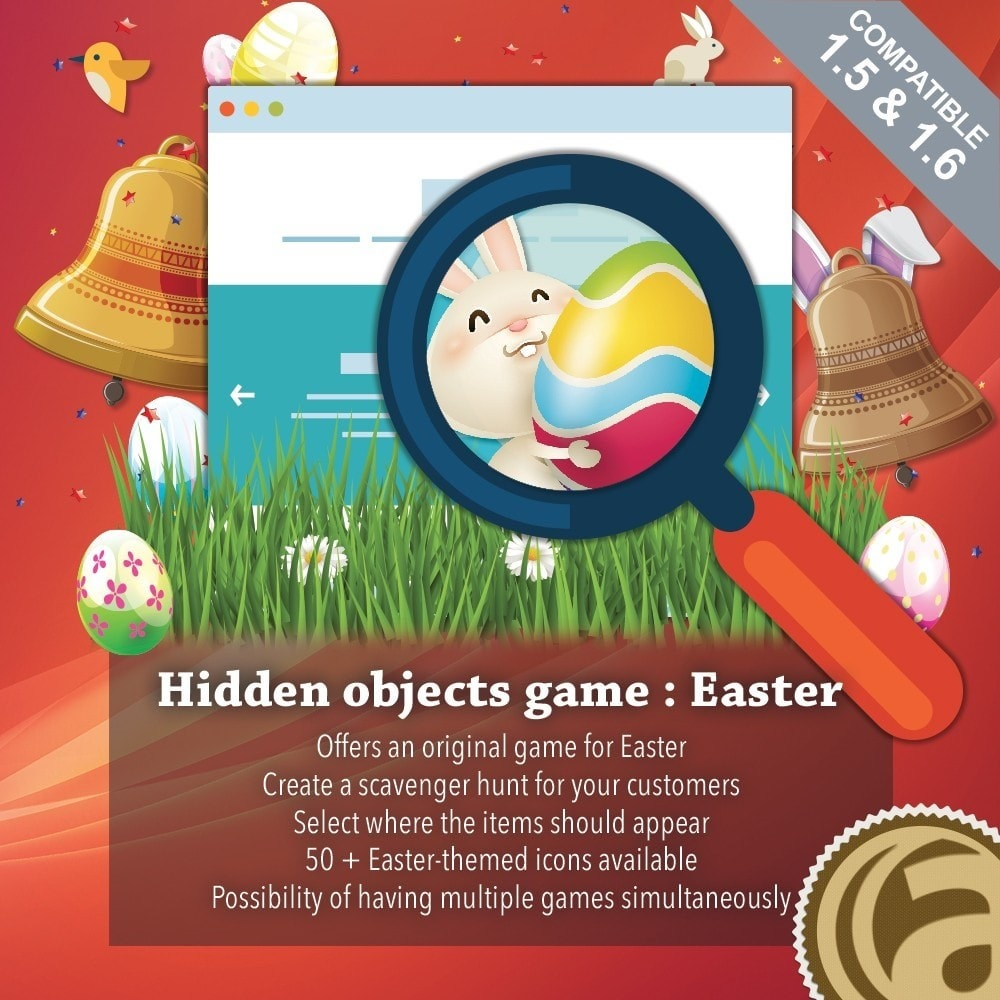module - Wedstrijden - Hidden objects game : Easter - 1