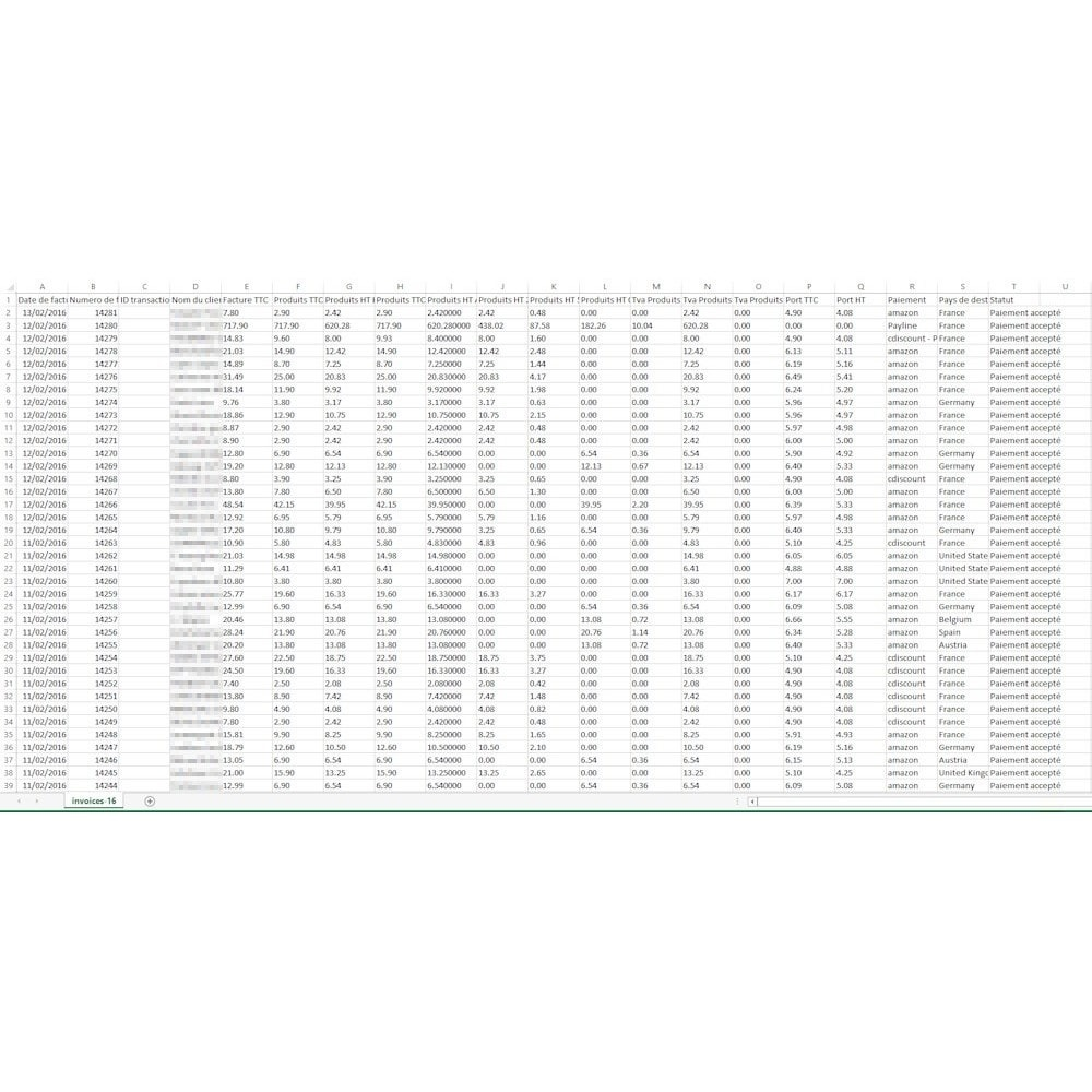 module - Бухгалтерии и выставления счетов - SW Invoice Export - 3
