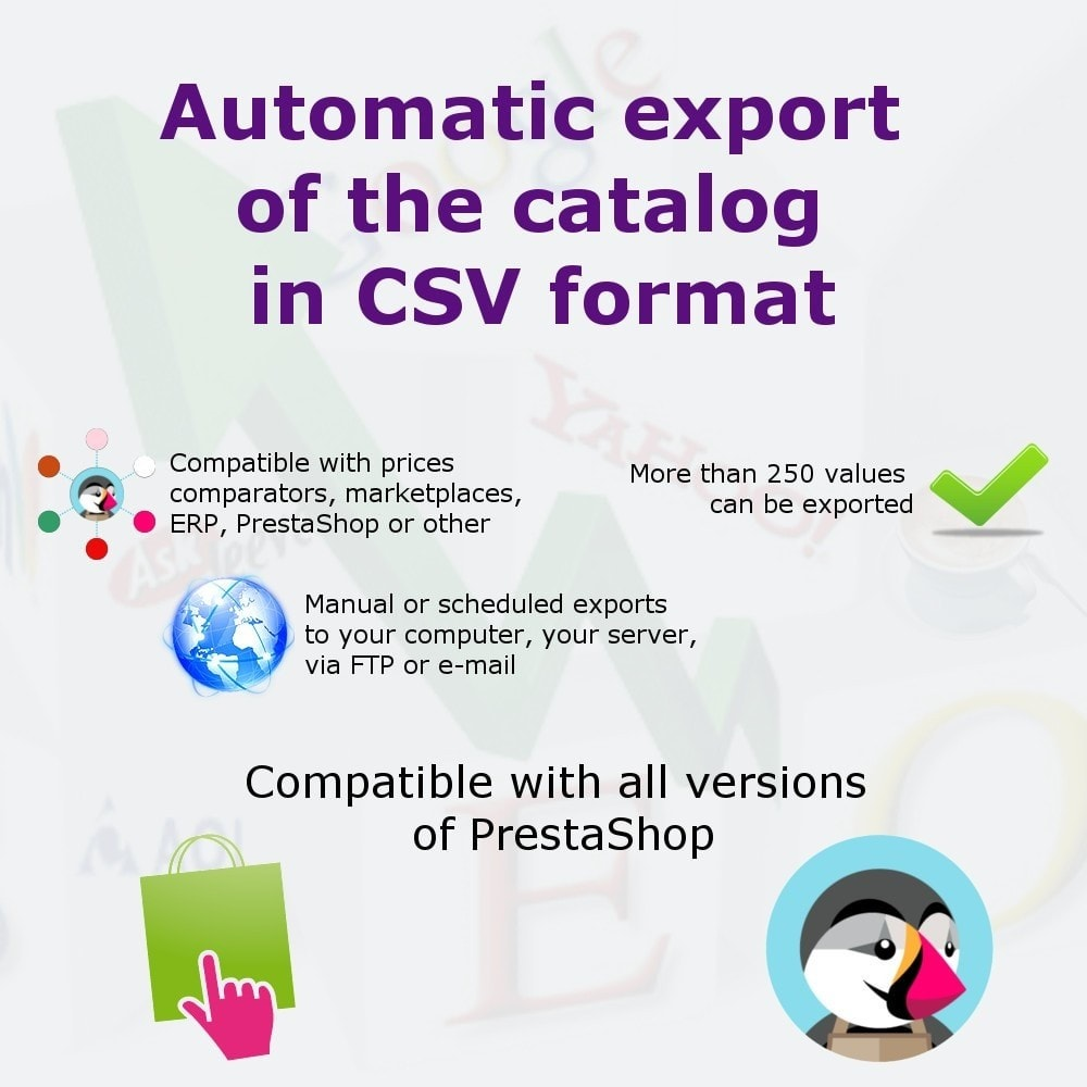 module - Data Import & Export - Export catalog in CSV format - 1