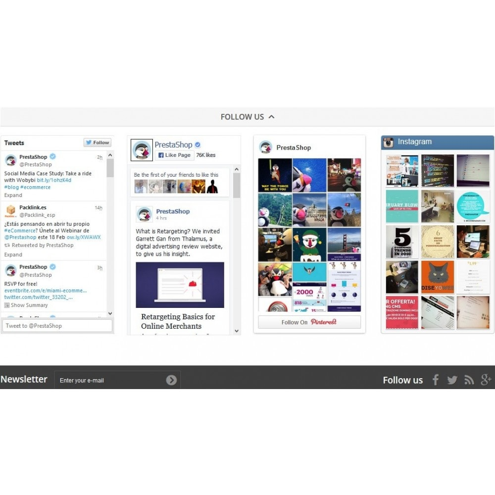 module - Social Widget - TM Social Feeds - 1