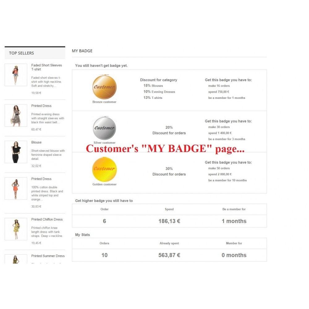 module - Programa de Fidelidad - Customer badge levels loyalty - 1