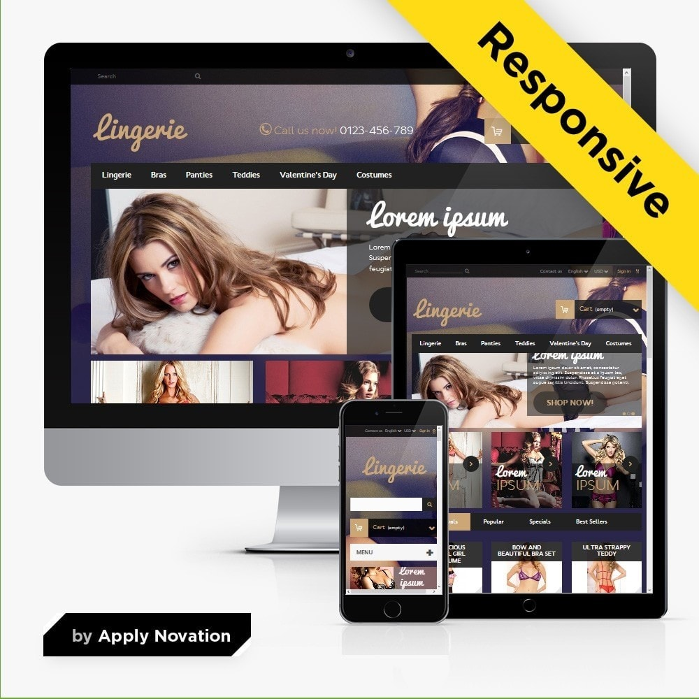 theme - Lingerie & Adulti - Lingerie Store 1.6 Responsive - 1