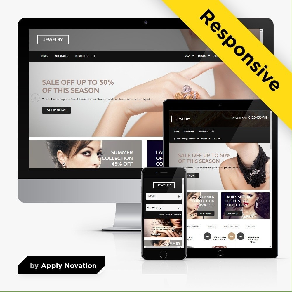 theme - Jewelry & Accessories - Jewelry Store 1.6 Responsive - 1