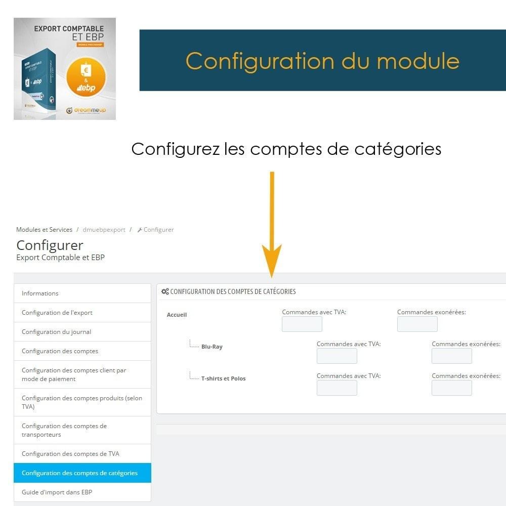 module - Connexion à un logiciel tiers (CRM, ERP...) - DMU Export Comptable CSV ou EBP - 13