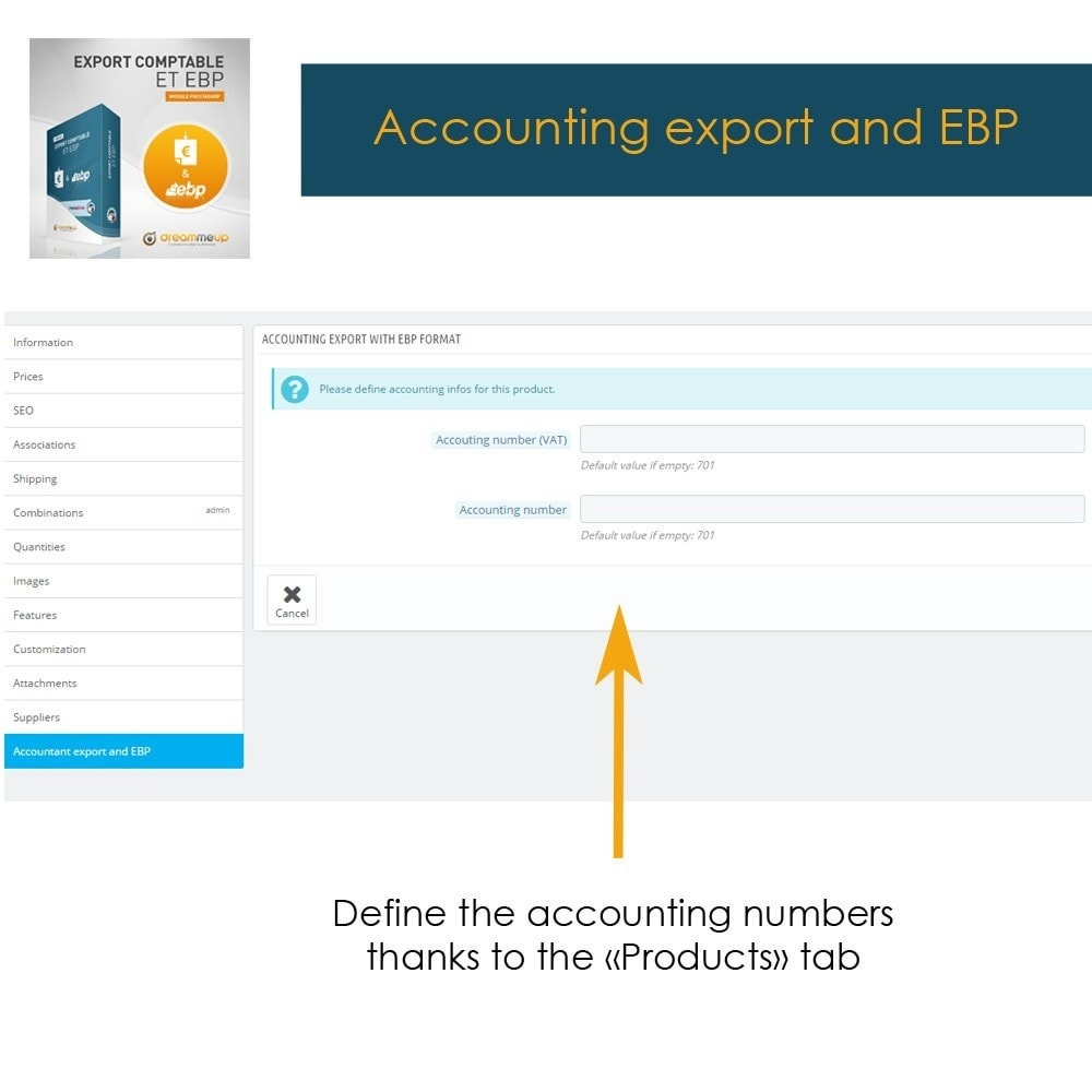 module - Data Integraties (CRM, ERP...) - DMU Accounting Export and EBP - 3
