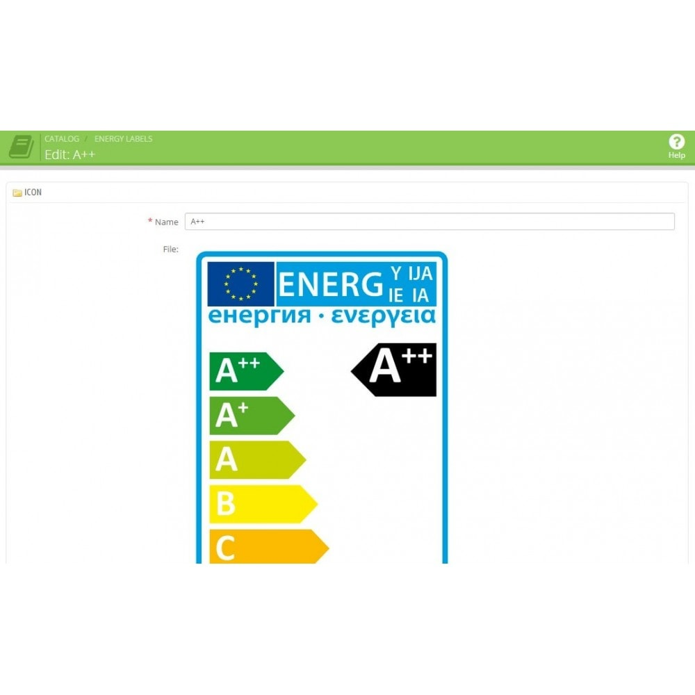 module - Marco Legal (Ley Europea) - EU Energy Rating / Energy label - 5