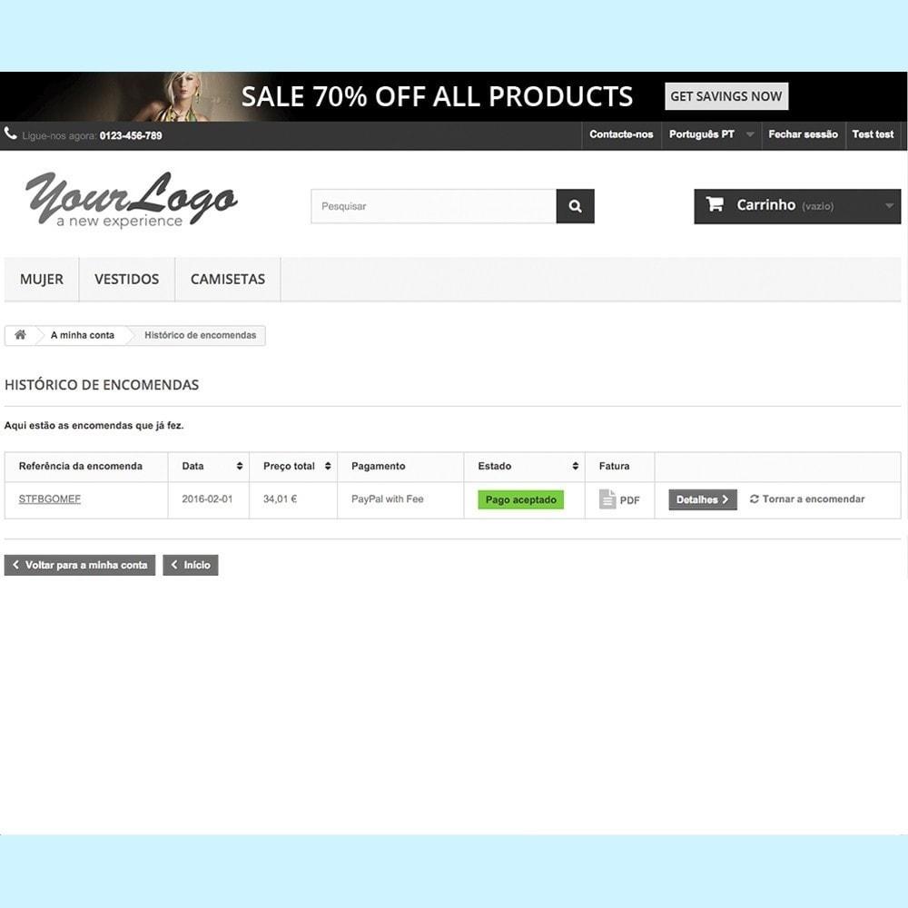 module - Pagamento por cartão ou por carteira - Paypal com Sobretaxa - 8