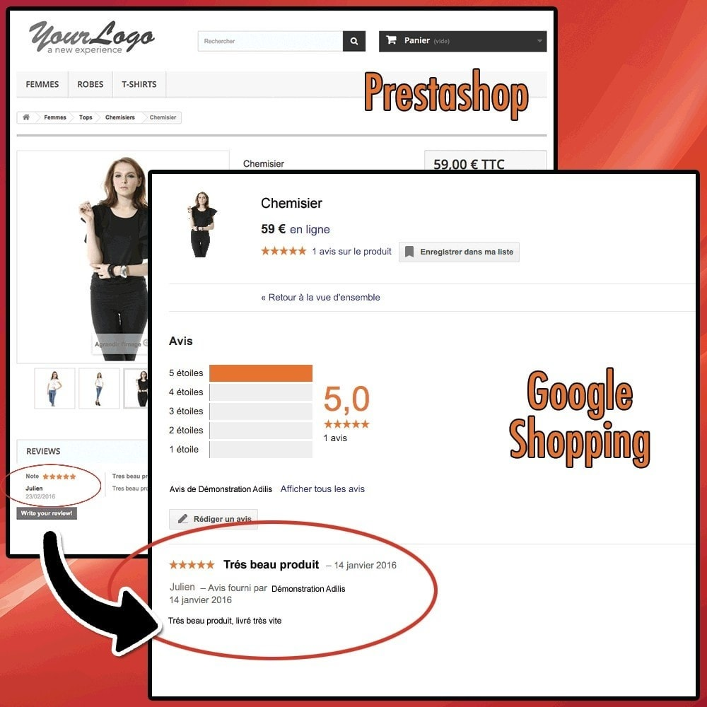 module - Opinie klientów - Google Shopping Product Ratings Feeds - 2