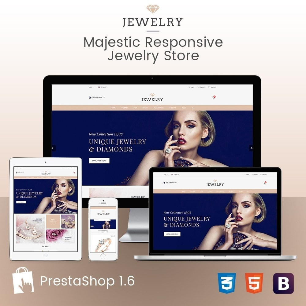 theme - Bellezza & Gioielli - Beauty & Jewelry Responsive Store - Amazing - 1