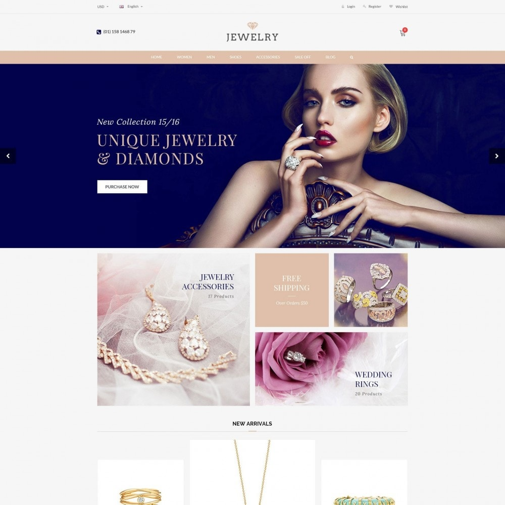 theme - Bellezza & Gioielli - Beauty & Jewelry Responsive Store - Amazing - 2