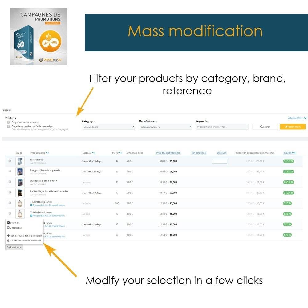 module - Promotion & Geschenke - DMU Discount campaigns - 7