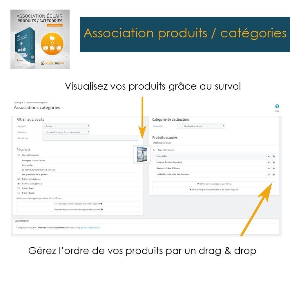 module - Edition rapide & Edition de masse - DMU Association éclair Produits / Catégories - 3