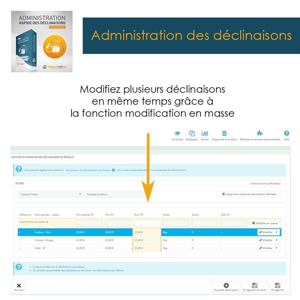 module - Outils d'administration - DMU Administration rapide des déclinaisons - 5