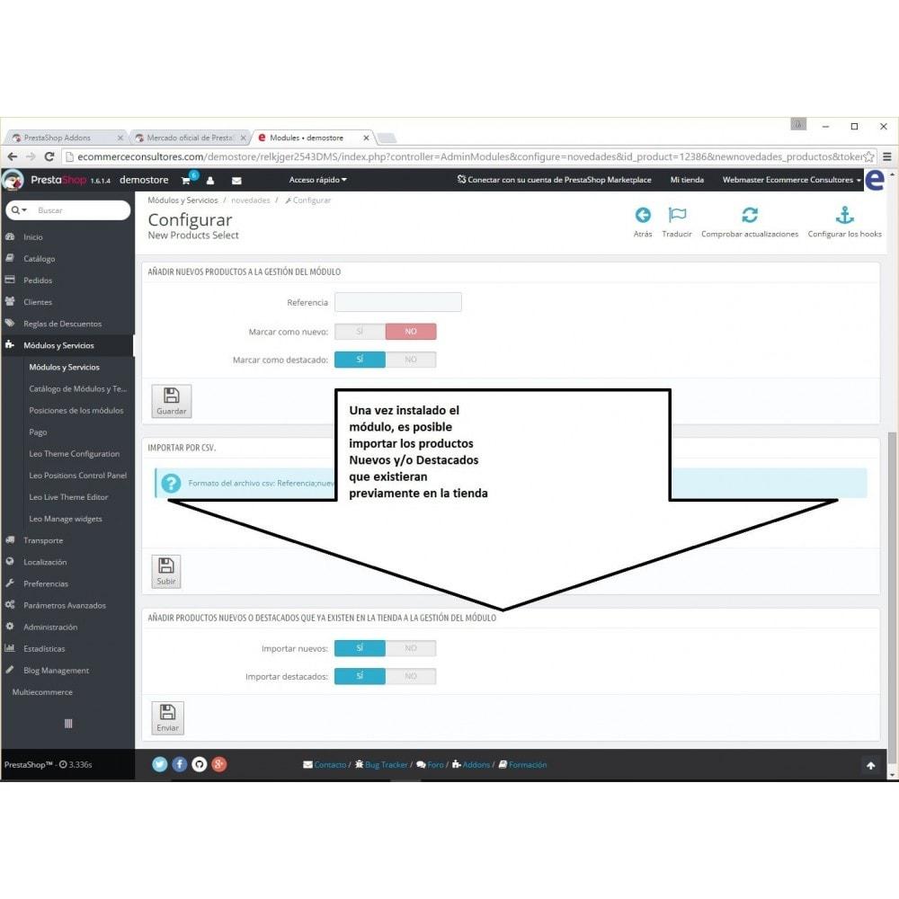 module - Herramientas Administrativas - New Product Select - 5