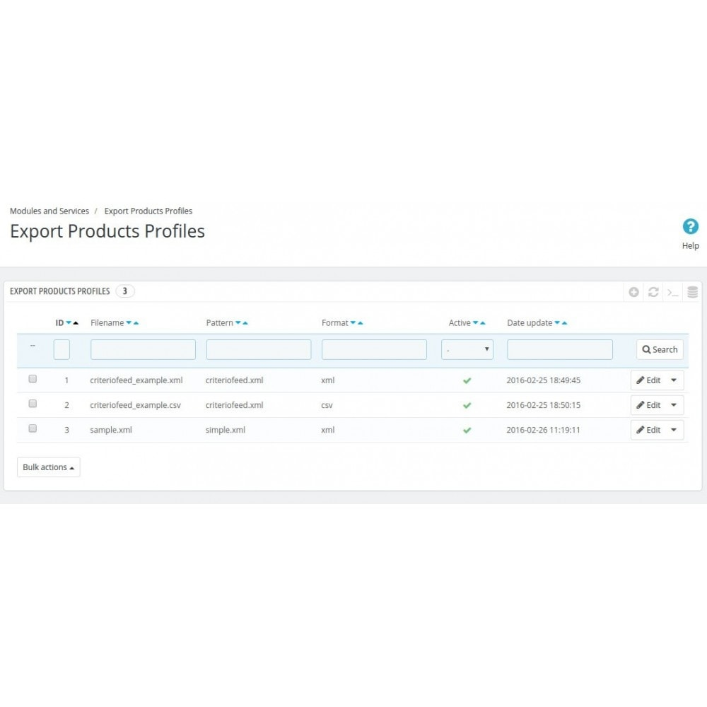 module - Import & Export de données - Product export to XML or CSV - 5