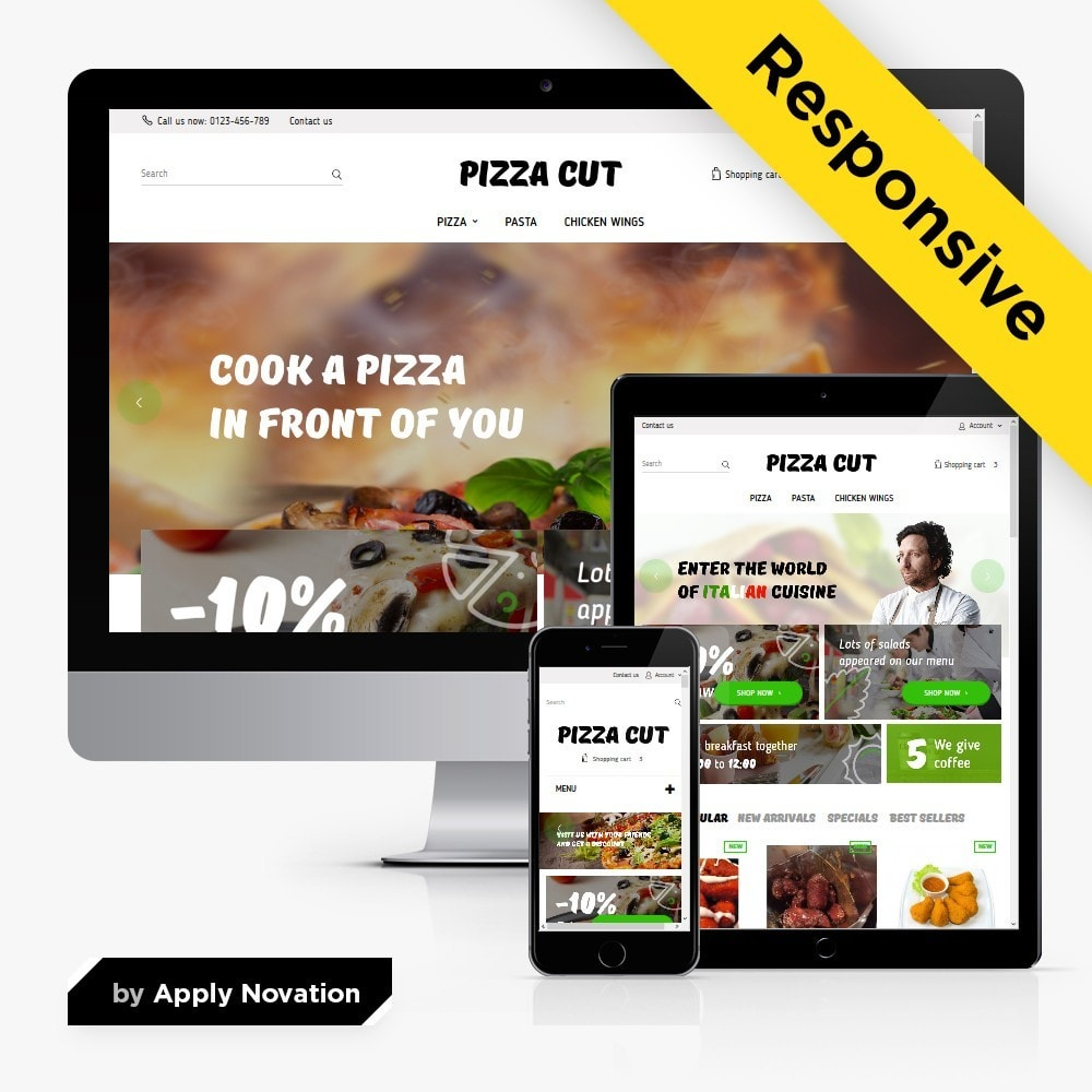 theme - Продовольствие и рестораны - Pizza Cut 1.6 Responsive - 1