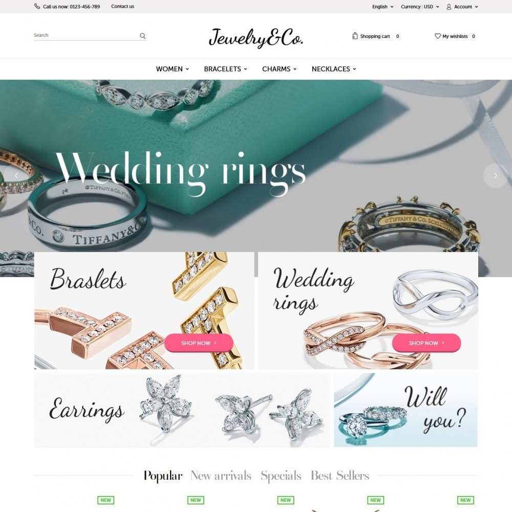 theme - Jewelry & Accessories - Jewelry&Co 1.6 Responsive - 2