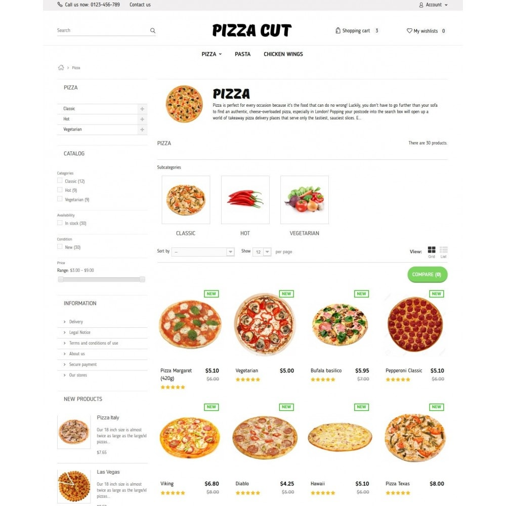 theme - Eten & Restaurant - Pizza Cut 1.6 Responsive - 5