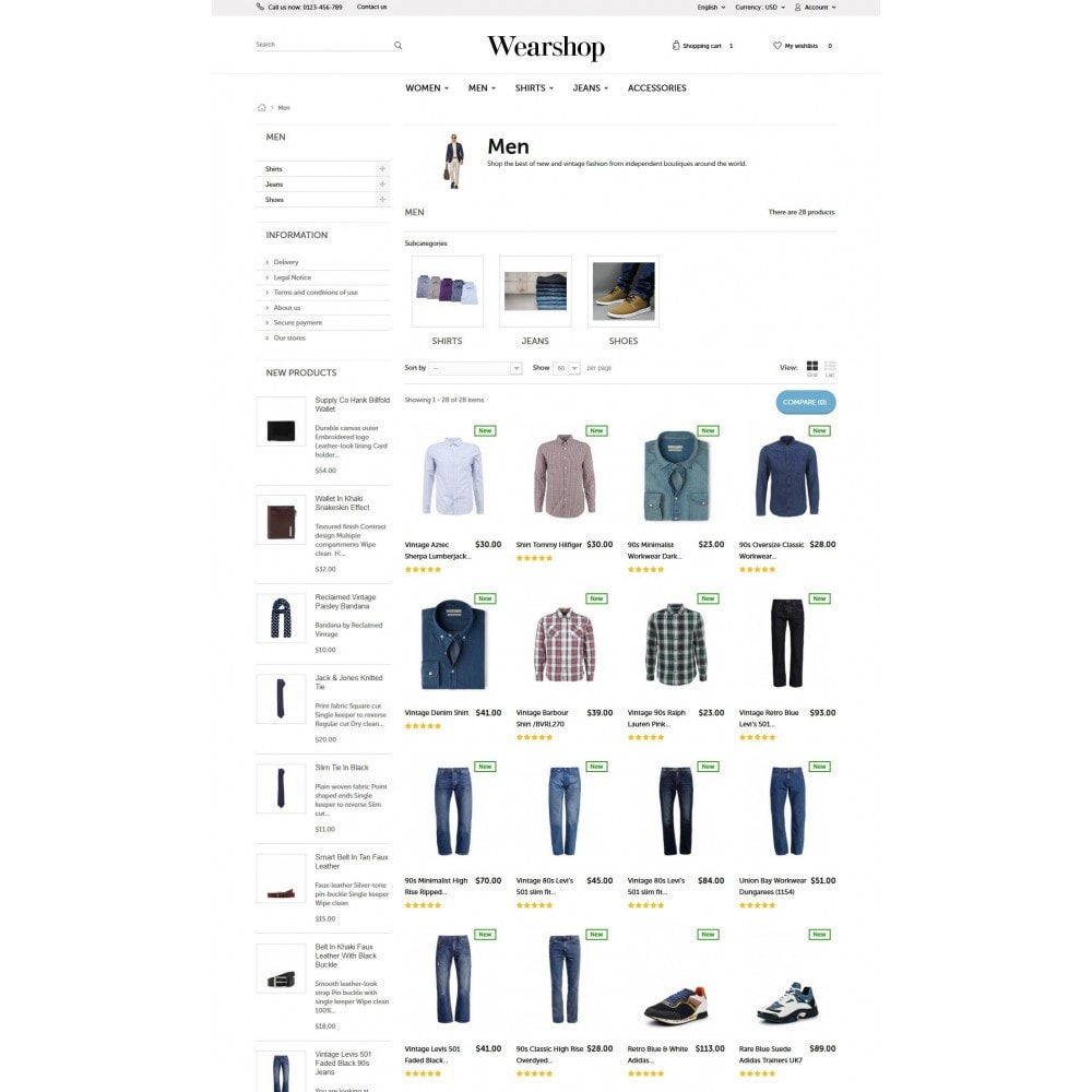 theme - Mode & Schoenen - Wearshop - 5