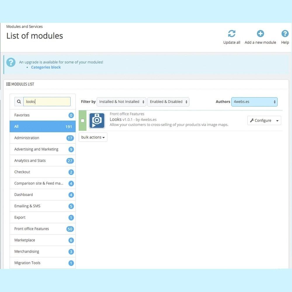 module - Personalisering van pagina's - Looks - 2