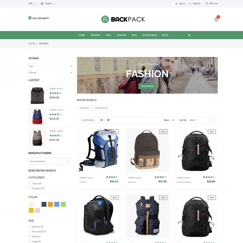 theme - Jewelry & Accessories - Bags & Luggage - Backpacks Responsive Store - 2