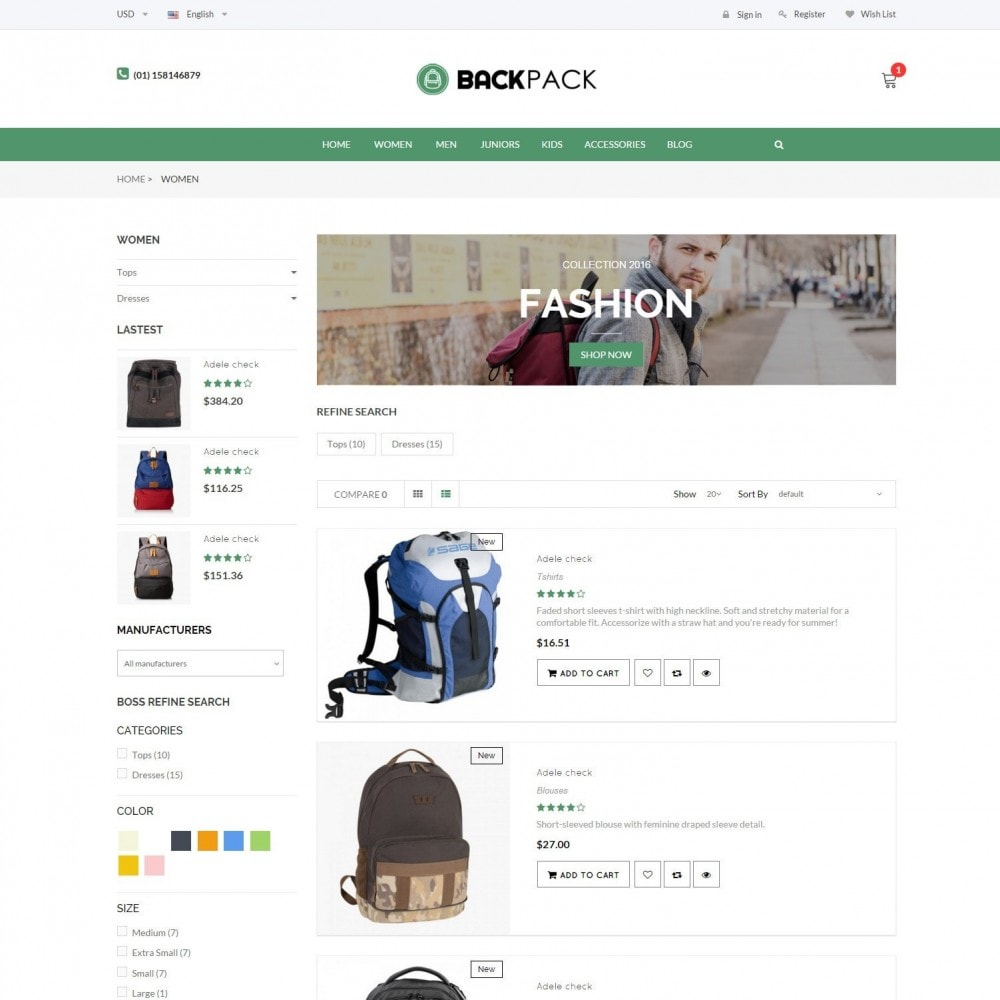 theme - Jewelry & Accessories - Bags & Luggage - Backpacks Responsive Store - 4