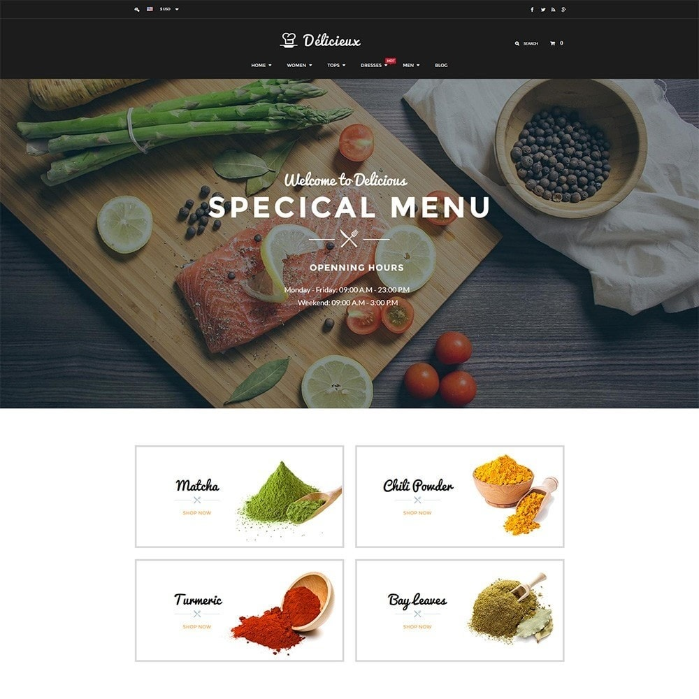 theme - Lebensmittel & Restaurants - Water Delicieux Food Store - 2