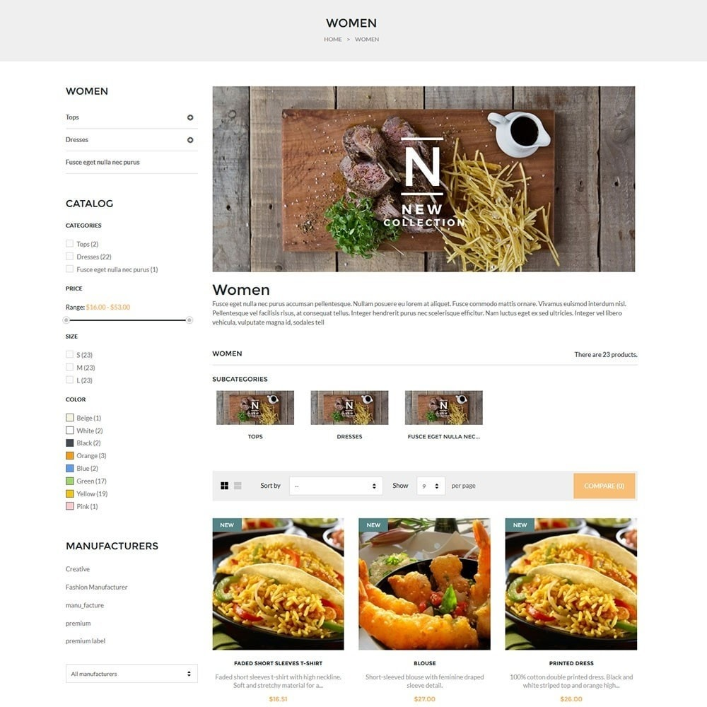 theme - Lebensmittel & Restaurants - Water Delicieux Food Store - 6
