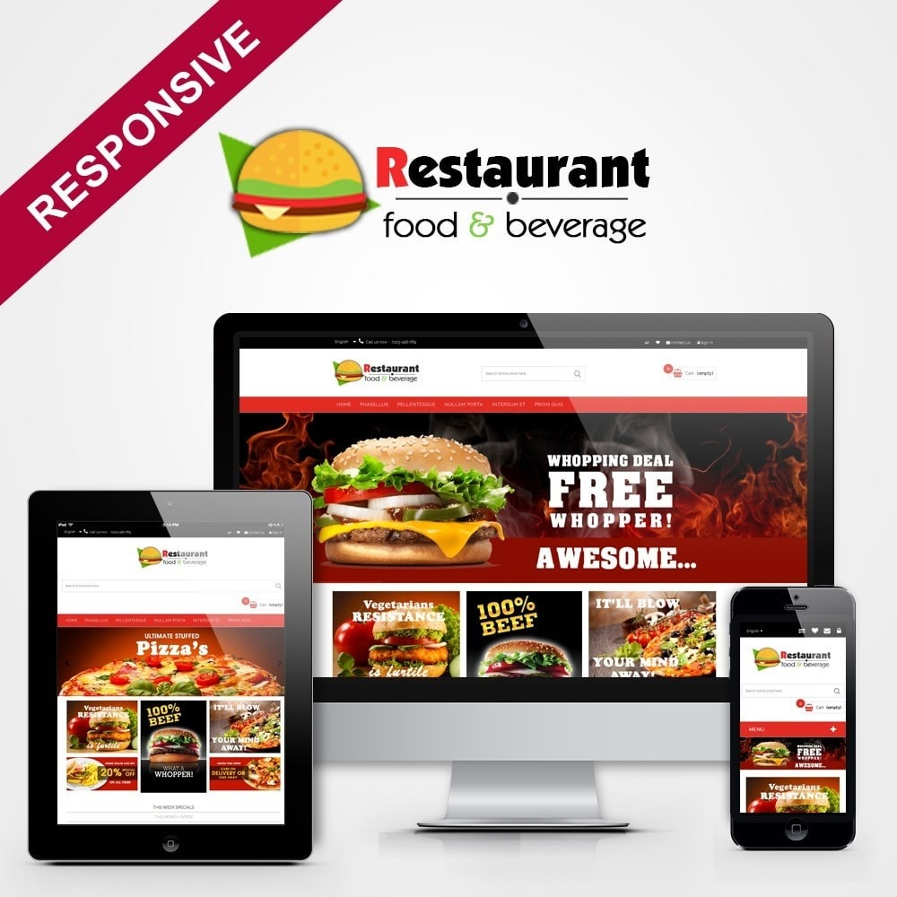 theme - Alimentation & Restauration - Pizza & Restaurant - 1