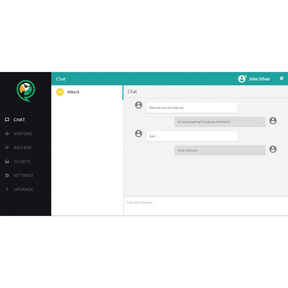module - Wsparcie & Czat online - ChatPirate live chat - 1