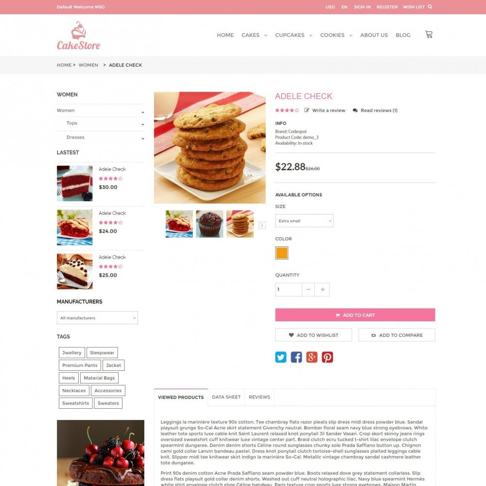 theme - Eten & Restaurant - Bakery, Food & Drinks - CakeStore Responsive - 5