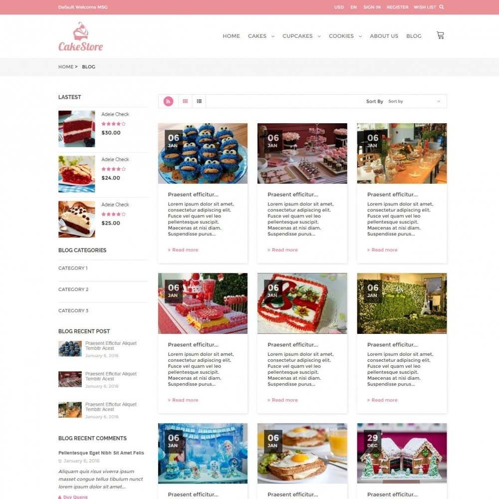 theme - Eten & Restaurant - Bakery, Food & Drinks - CakeStore Responsive - 6